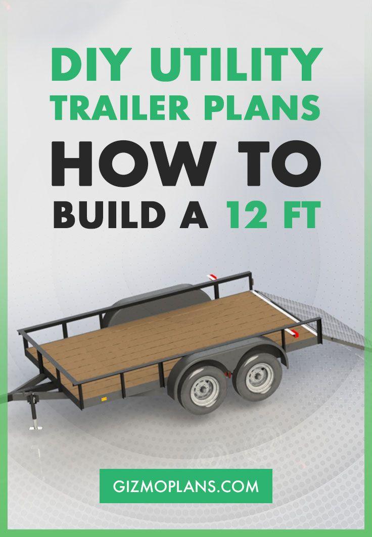Double Axle 8x12 Utility Trailer Plans Pdf Download Utility Trailer Trailer Plans Trailer Diy