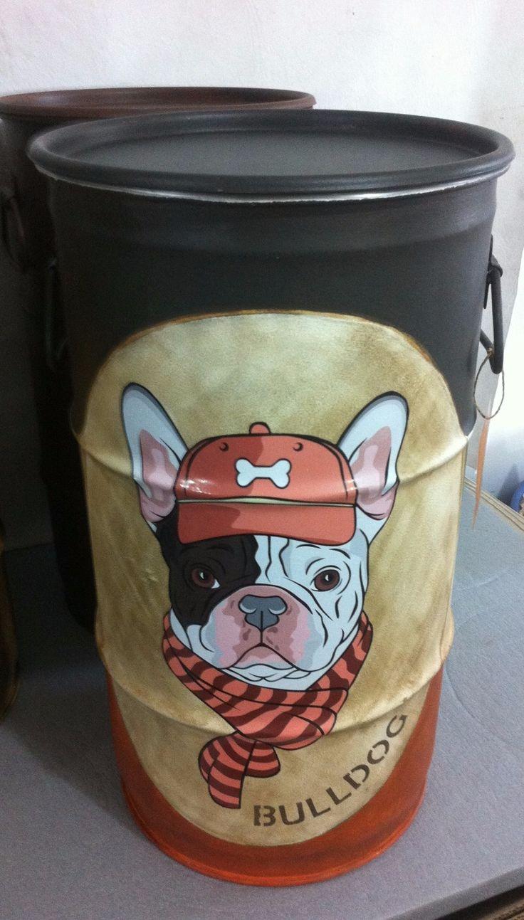 Bulldog Frances (Marron)- Tampa remove, e alças -P