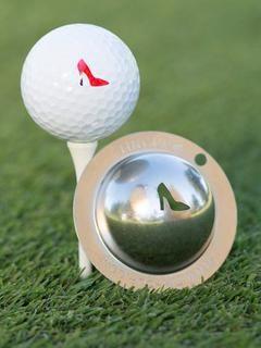 "Tin Cup ""Gimme Choo"" Golf Ball Stencil - Mrs Golf - Ladies Golf Apparel, Shoes, Accessories - #mrsgolf"