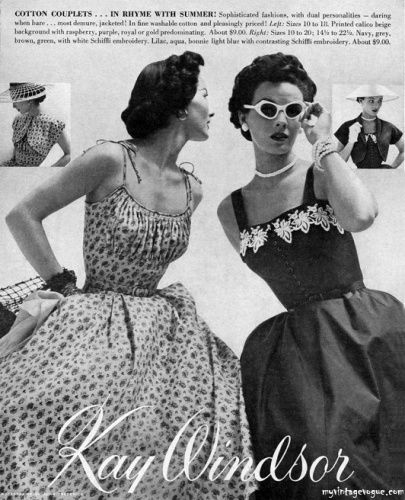1952 Kay Windsor clothing ad