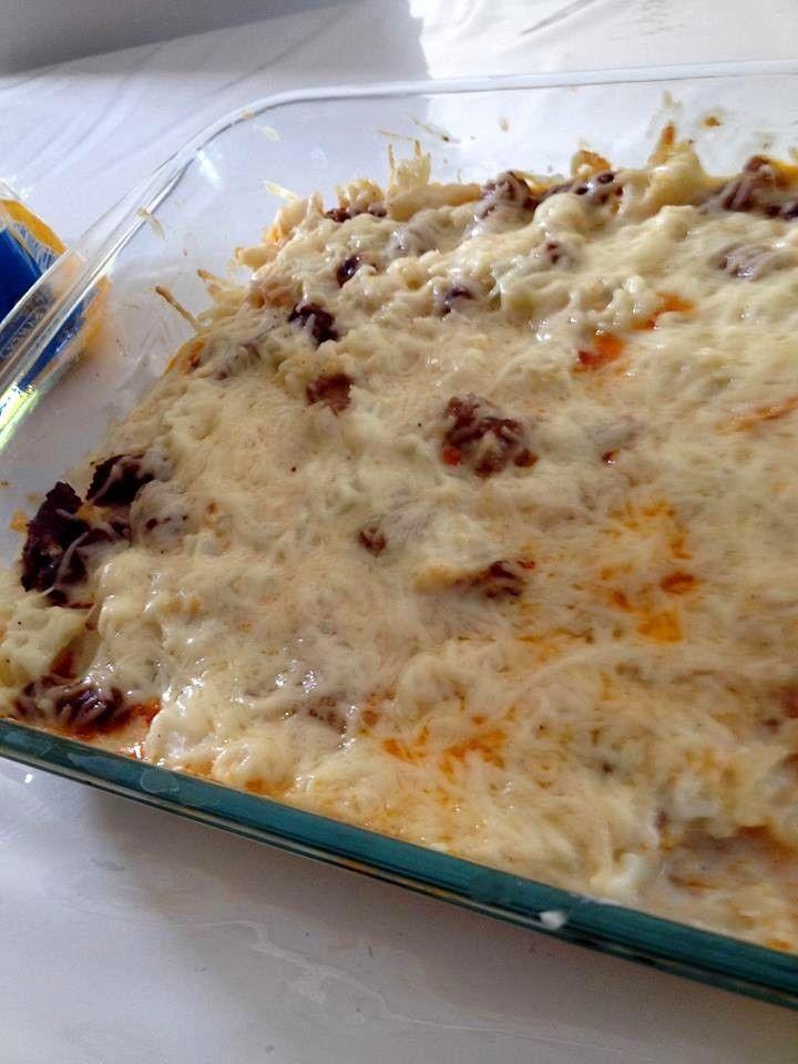 Gratin de choux fleurs saucisse merguez de Steffie - Atelier de Brigitte (Gironde 33230) cuisine, recettes, partages,