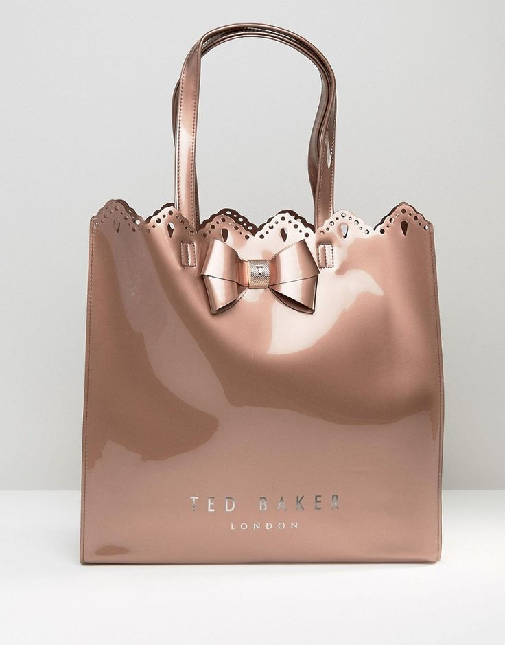 Ted Baker Cut Out Large Icon Bag in Rose Gold