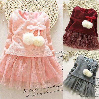 2016 Newborn Baby Girls Dress Ball Decoration Lace Vestido Infantil Bow Tutu  Vestidos Little Girl Princess Dresses