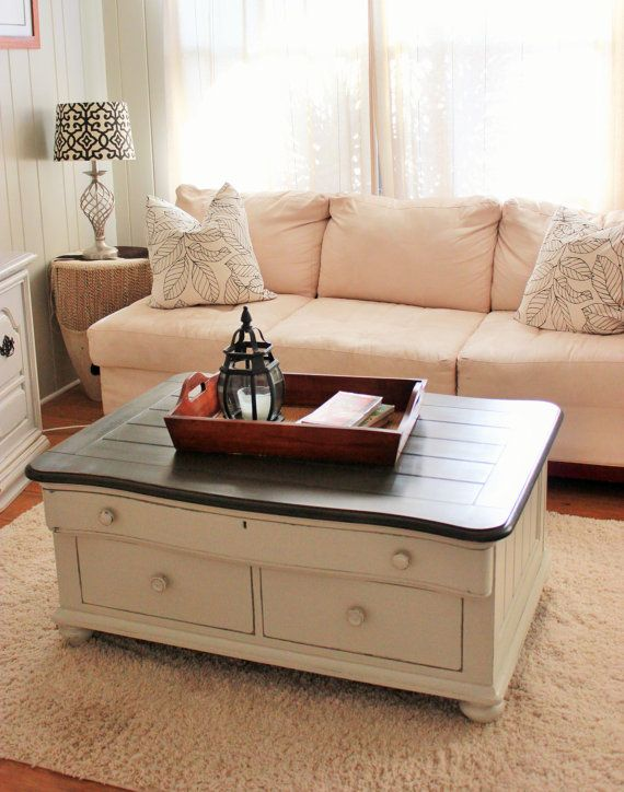 Coffee table Wood coffee table Stanley by HomePiecebyPiece on Etsy