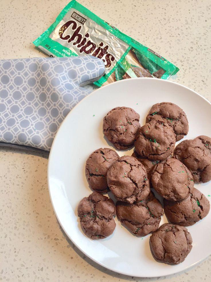 Chocolate Mint Chocolate Cookies