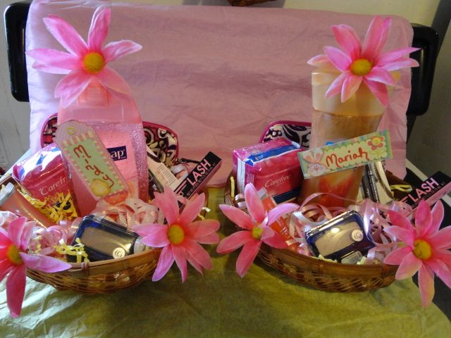 146 best teenager basket images on pinterest gift hampers easter basket w makeup candy negle
