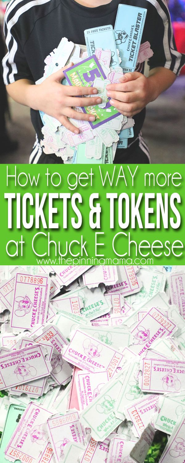 The Secrets to getting WAY more tickets and tokens at Chuck E Cheese!