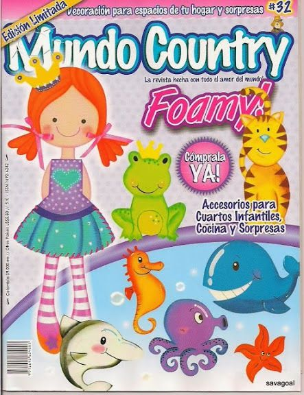 Revistas de manualidades Gratis: Country Foamy