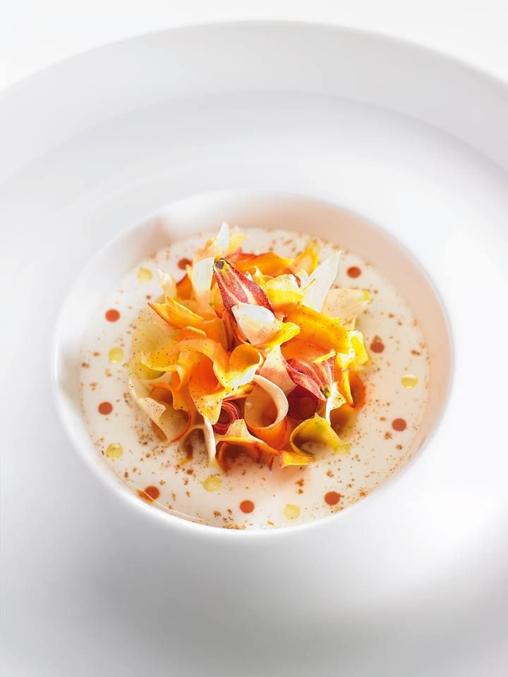 Anne-Sophie Pic's Carrot and Orange Blossom dish featured in FOUR-The World's Best Food Magazine