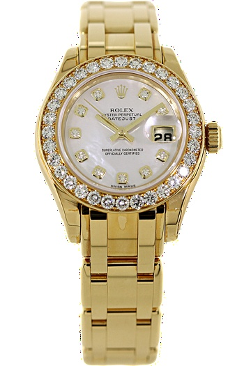 Certified Pre-Owned #Ladies #Rolex 18K Yellow Gold Pearlmaster Automatic #fashion #vintage #chic