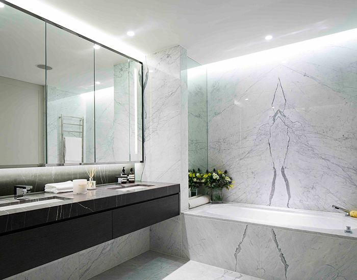 Cheyne Terrace - Projects - MSMR Duravit Starck 3 undermounted basins and Bette Art bath