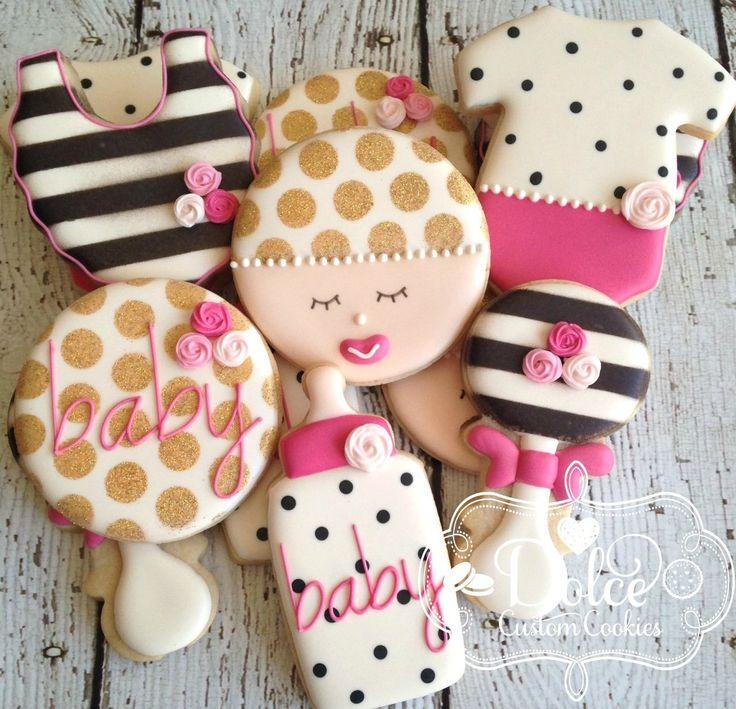 baby shower cookies cake art sugar cookies baby shower kate spade savi