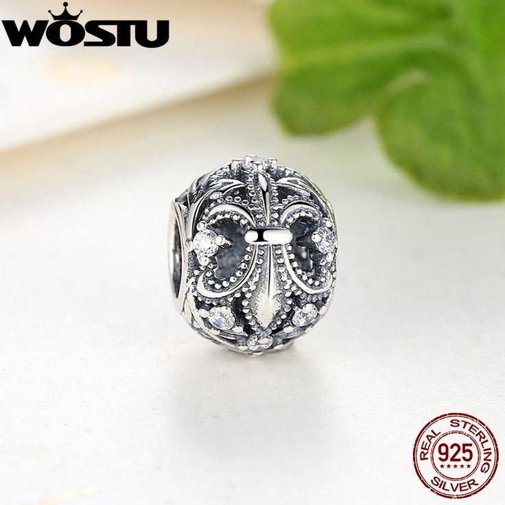 New Arrival 925 Sterling Silver Fleur-De-Lis Charm Beads Fit Original Pandora Bracelet Necklace Authentic DIY Jewelry