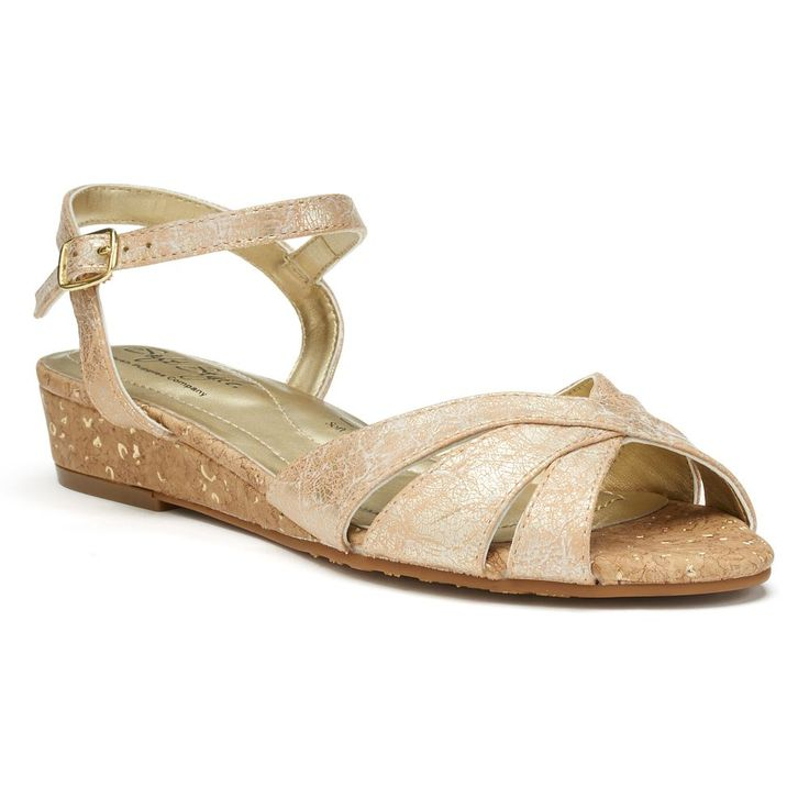 Soft Style by Hush Puppies Midnite Women's Wedge Sandals, Size: medium (8.5), Gold