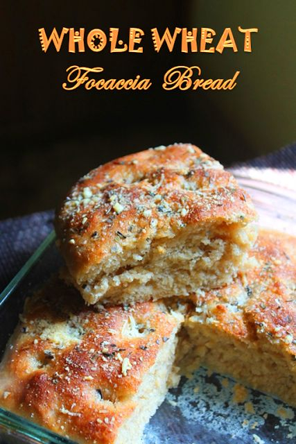 YUMMY TUMMY: 100% Whole Wheat Focaccia Bread Recipe