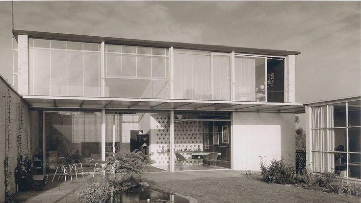 House Nakatenus (1954-55) in Düsseldorf, Germany, by Bernhard Pfau