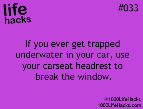 25 Useful Life Hacks - and this is why I am deathly afraid of bridges that go over water....