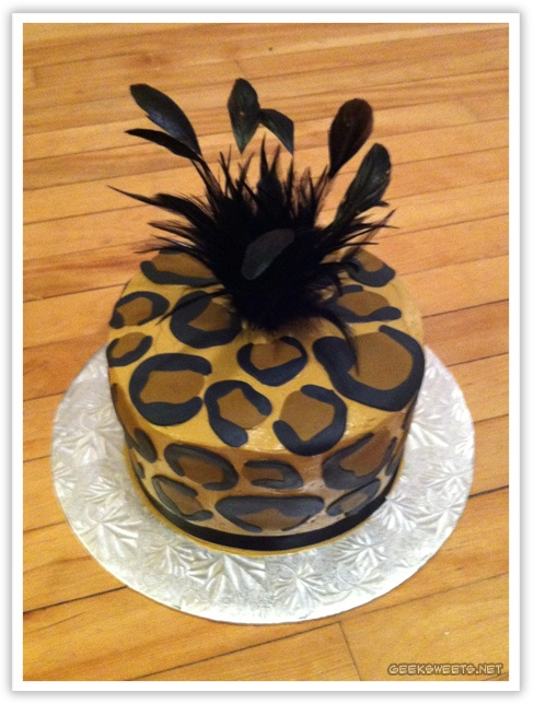 leopard print birthday cake . . . for Cady