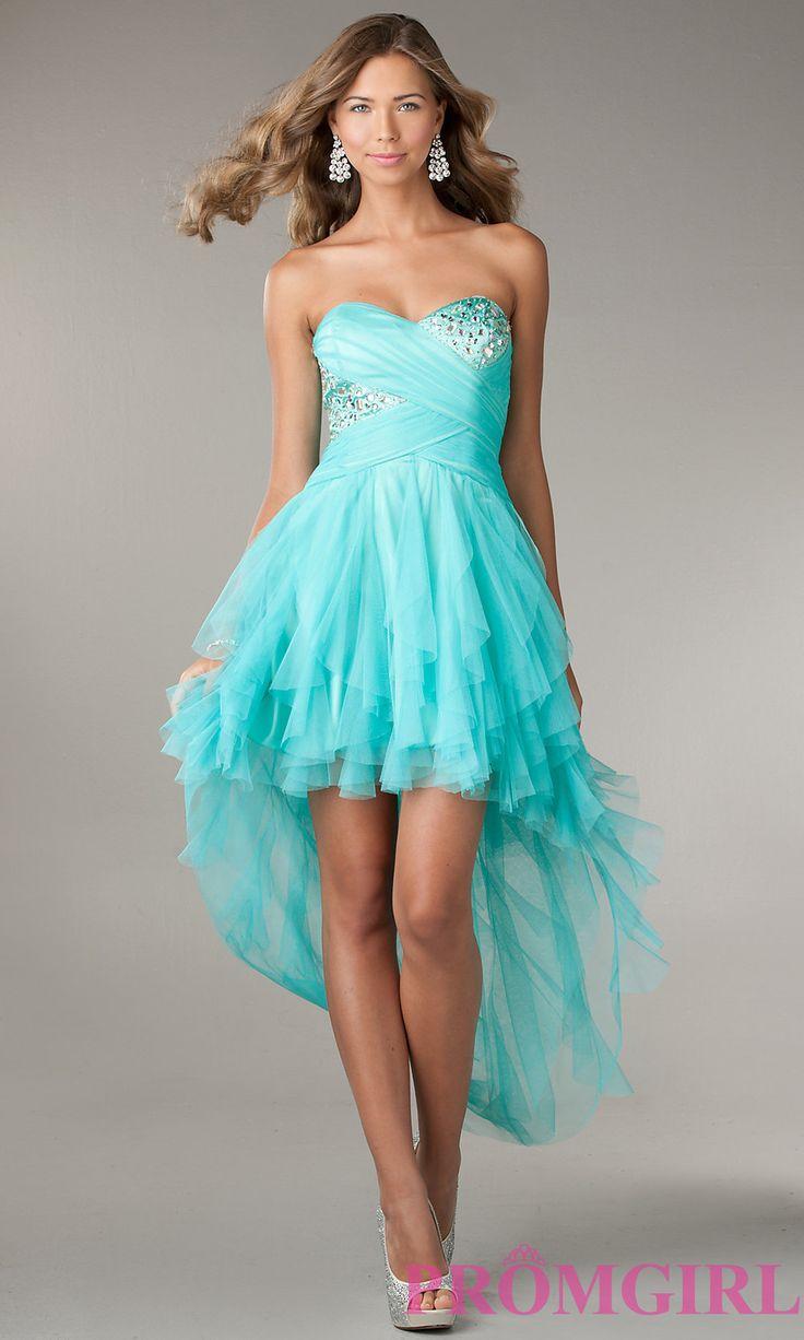 Ruffled High Low Strapless Dress by LA Glo $149.00
