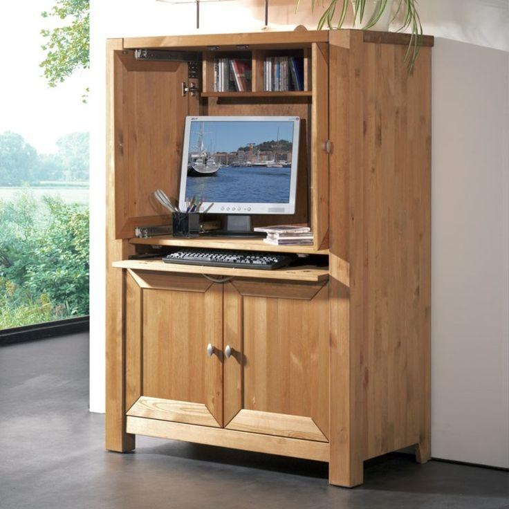 armoire informatique et bureau pour ordinateur modernes pinterest design et armoires. Black Bedroom Furniture Sets. Home Design Ideas