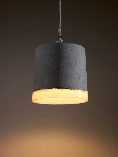 Concrete and Rubber Lamps