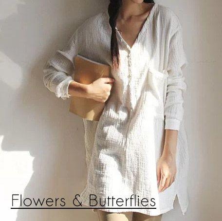 WORLDWIDE FREE SHIPPING Women Plus Size by FlowersButterflies15