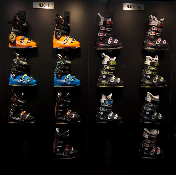 Tecnica ski boot display ISPO Munich 2015