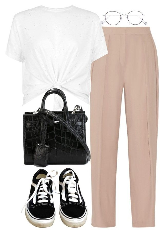 """""""Untitled #169"""" by simonakolevaa ❤ liked on Polyvore featuring Vans, By Malene Birger, Ahlem and Yves Saint Laurent"""