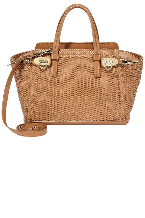 Store your heavy leather tote for the next 14 weeks and pick up a neutral carryall to store meeting notes, your beach reads and SPF when it's time to head seaside. Salvatore Ferragamo tote, $2,950, shopBAZAAR.com.