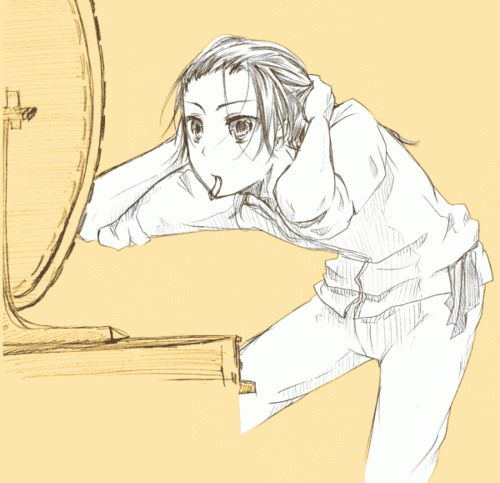 I LOVE HOW MUCH FANART THERE IS OF CHINA PUTTING HIS HAIR UP. This old man is sexy <3