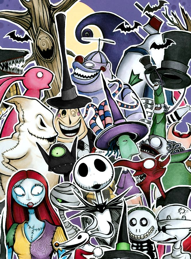 It is an image of Luscious Nightmare Before Christmas Characters Pictures