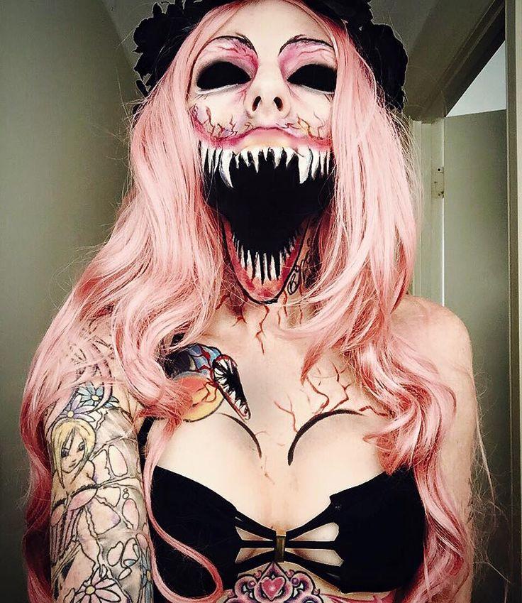 Awesome halloween makeup by Sarah Mudle #halloween #makeup