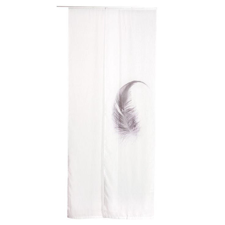 Flächenvorhang Feder (60x245, 2er-Set, weiß) - Gardinen, Rollos & Plissees - Haushalt & Deko - Dänisches Bettenlager