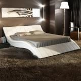 Rosetta King Size Leather Bed - White
