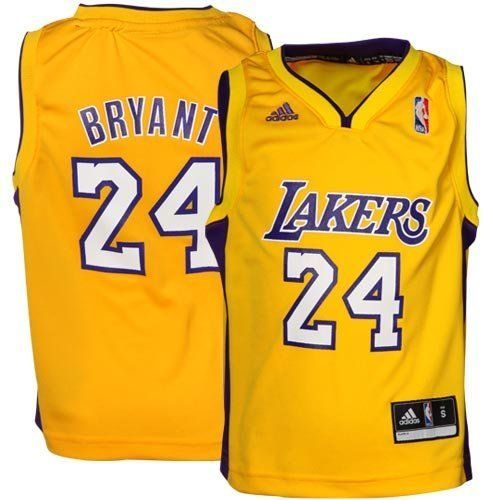 Adidas Fan Shop Adidas Youth NBA Los Angeles Lakers Kobe Bryant Home Replica Jersey, 5/6 - Medium