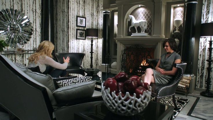 Birch Tree Gray Wallpaper as seen in Regina Mills's office... | Once Upon a Time Finds