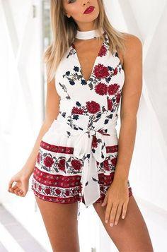 Macaquinho Floral Vermelho - Compre Online   DMS Boutique