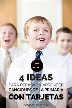 """Tarjetas para repasar """"Yo sé que me ama el Salvador"""". Estas ideas sirven para cualquier canción de la Primaria SUD."""