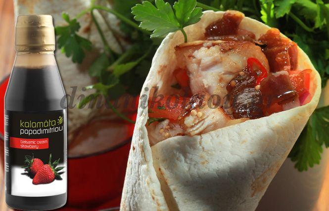 Τορτίγια με γλασαρισμένη πανσέτα και καραμελωμένα κρεμμύδια | Dina Nikolaou