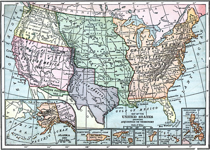 Best Maps Images On Pinterest Geography Teaching Maps And - Map of territories acquired by the us