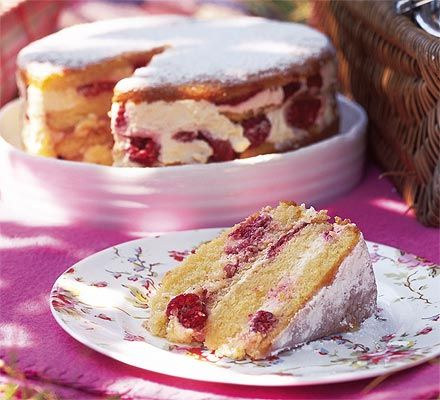 Try this light, creamy raspberry cake for a sweet summer treat