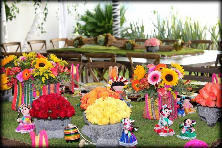 Fiesta mexicana detalles decoraci n mobiliario centros for Decoracion mexicana