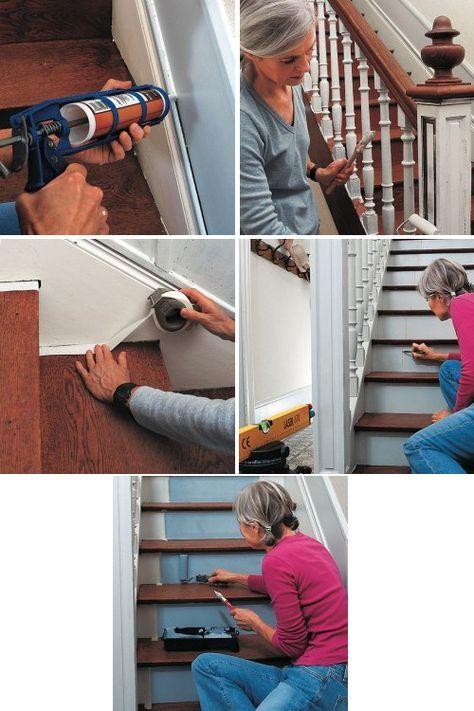 21 best chambre etage images on pinterest above door decor at home and decorating ideas for Peindre un escalier en bois exotique