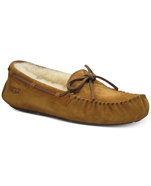 Ugg Women s Dakota Moccasin Slippers - Brown 5  d954e325b