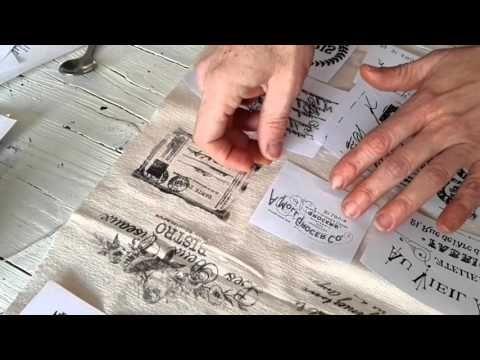 EN ESPAÑOL Transferencias sobre tela con barniz en espray - Tapicería vintage - YouTube