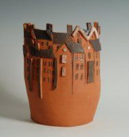 Kent Potters Association Picture Gallery - Eva Blume http://www.pinterest.com/cajclay/ceramic-houses/