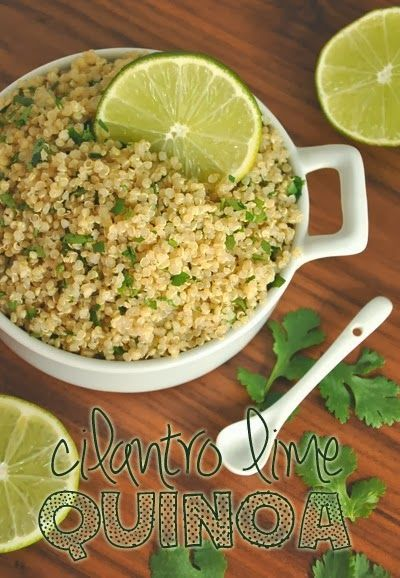 Cilantro Lime Quinoa // 3 cups of fluffy quinoa fit for a fiesta!