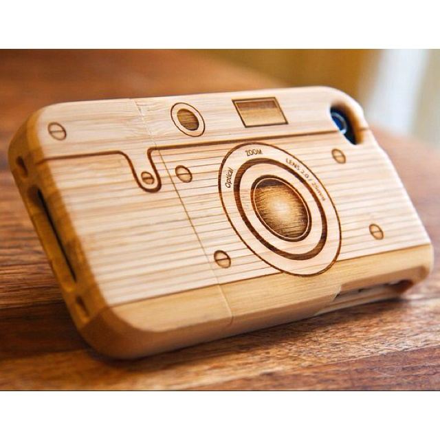Old camera iPhone case - wood