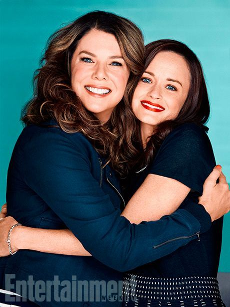 The Gilmore girls are back!!! Lauren Graham and Alexis Bledel, Gilmore Girls: Seasons (Season 8) promotion for EW