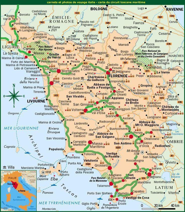 Carte Italie - Plan de la Toscane